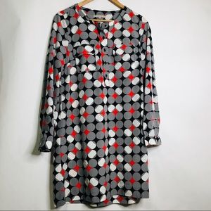 Gap mod vintage style dotted stretch mini dress